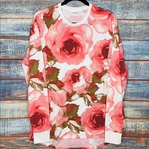 Lularoe long sleeve floral Hudson, size small
